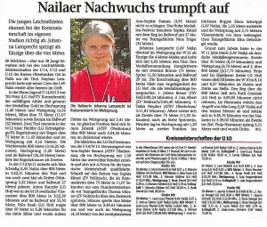 2015 Nailaer Nachwuchs trumpft auf